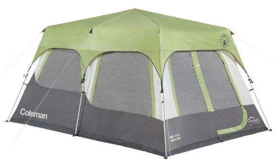 coleman 10 person tent setup
