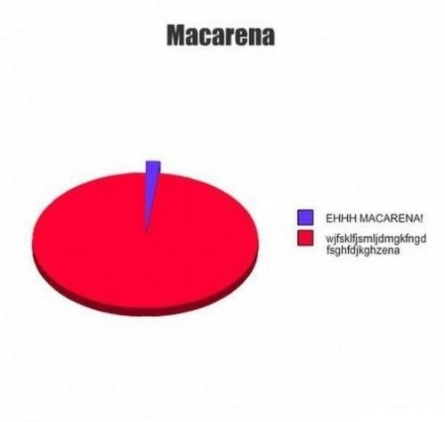 This is how I sing it because I can speak spanish and I still don't know what the hell they're sayingLaugh, Funny Pictures, Ehhhh Macarena, Pies Charts, So True, Funny Stuff, Humor, Ehhh Macarena, True Stories