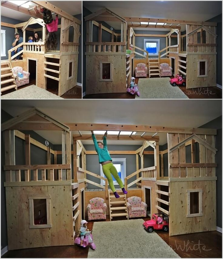 25 best ideas about cool bunk beds on pinterest amazing for Fort bedroom ideas