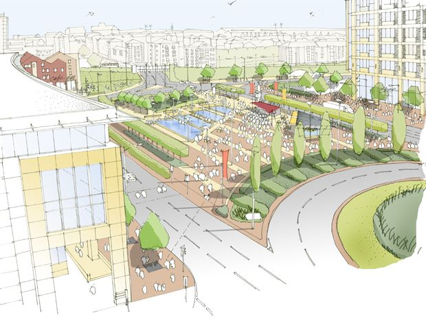 Hatcher Prichard Architects Bristol Cardiff | Cardiff Urban Masterplan Sketch