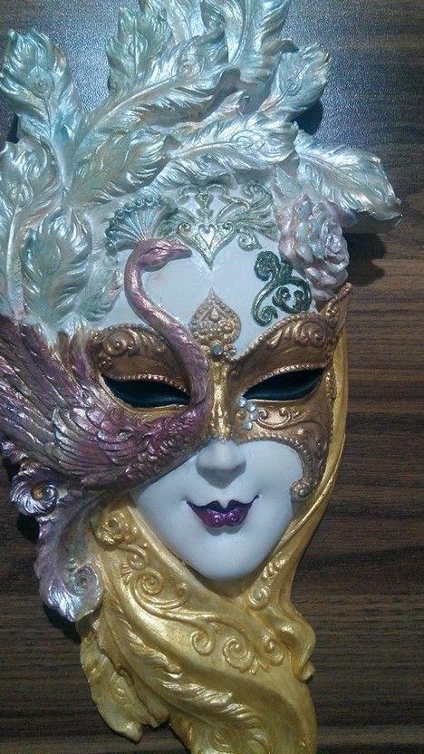 En sonunda yaptim... #mask #painting #hobby #craft
