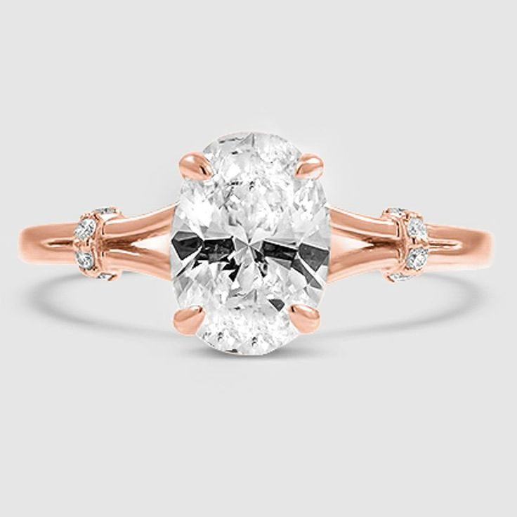 14K Rose Gold Odelia Diamond Ring