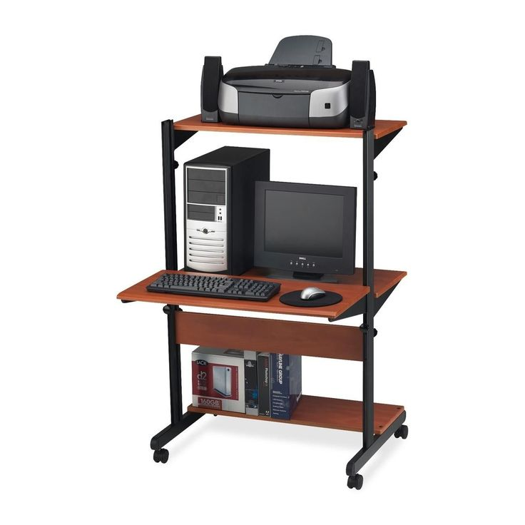 SOHO Adjustable Computer Table AV Cart