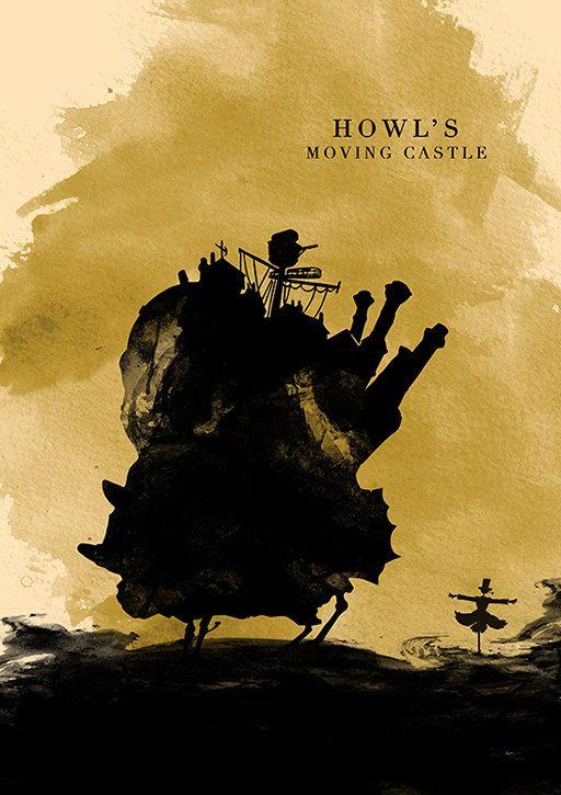 Hayao Miyazaki Minimalist Movie Poster Set My by moonposter