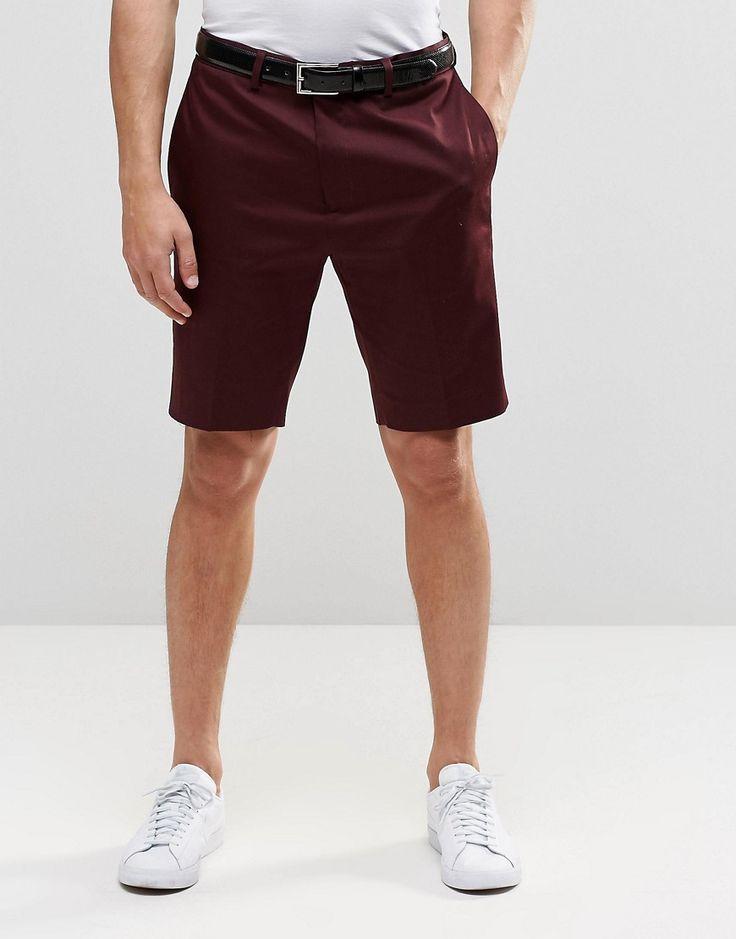 ASOS+Skinny+Smart+Shorts+In+Cotton+Sateen