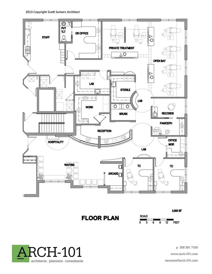 Floor plan orthodontic office ideas for Orthodontic office design floor plan