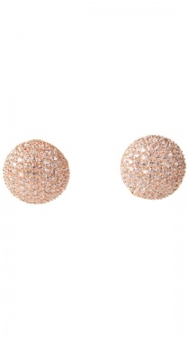 Fat Pave Button Earring