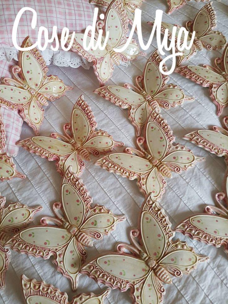 Farfalle in ceramica decorazione country