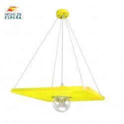 Lámpara de techo moelo Olimpia de Gran Decoración en color amarillo