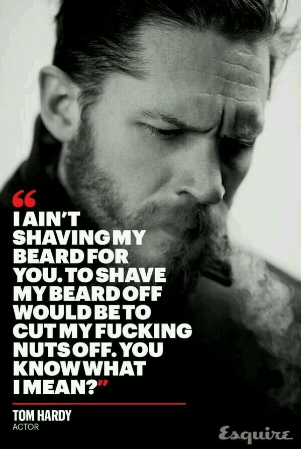 Tom Hardy, Legend - bearded inspiration from Rawbeards