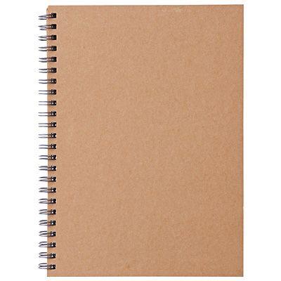 無印良品 再生紙ダブルリングノート・無地  多分クリニックのノートはこれ