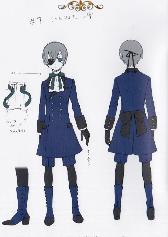 ciel phantomhive casual blue outfit cosplay amp makeup