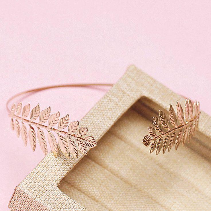 Bleke gouden bladeren haarbanden barokke haar ornamenten vintage bladgoud hoofddeksel bruiloft haaraccessoires voor vrouwen