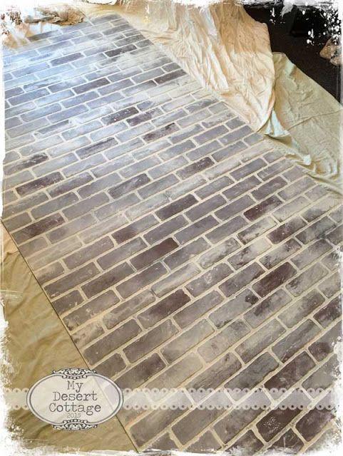 Faux brick wall tutorial house ideas pinterest faux - Fake brick wall covering interior ...