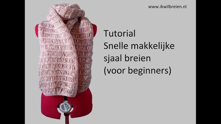 Snelle makkelijke sjaal breien, tutorial voor beginners