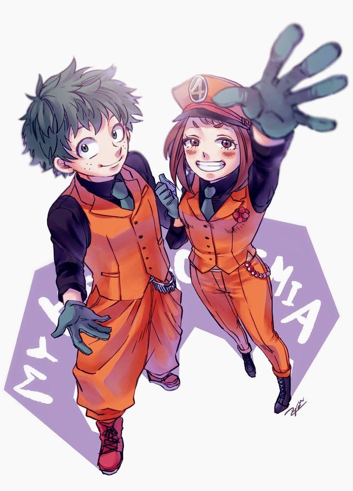 Izuku Midoriya X Ochaco Uraraka My Hero Academia Fanart