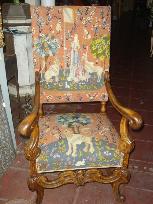 Charmant 19th Century Needlepoint Chair