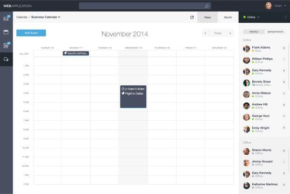 Web Application Dashboard on Web Design Served