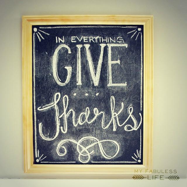 My Fabuless Life: Thanksgiving Chalkboards