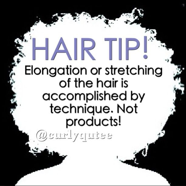 "all these product lines talking about ""all day elongation"" are gimmicks....natural hair tip"