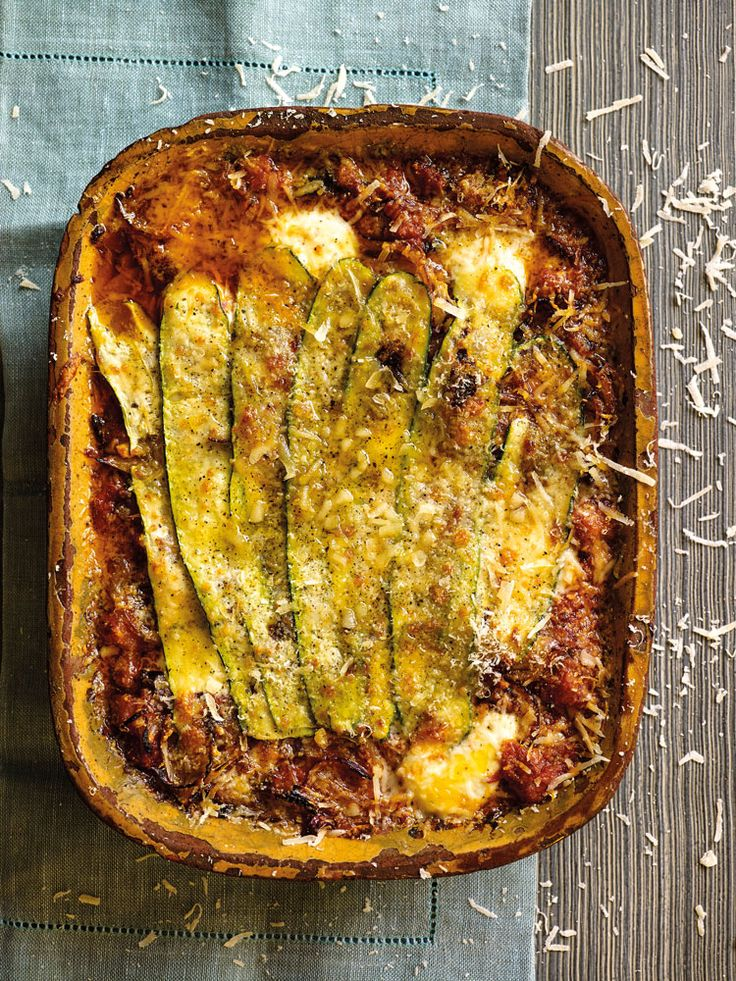 Courgette and aubergine gratin, an easy vegetarian recipe ideal for a midweek meal or as an Italian dinner party recipe