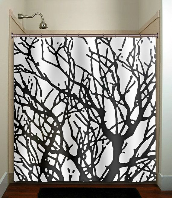 Branches Tree Branch Shower Curtain Bathroom Decor Fabric Kids Bath Window Curtains Panels