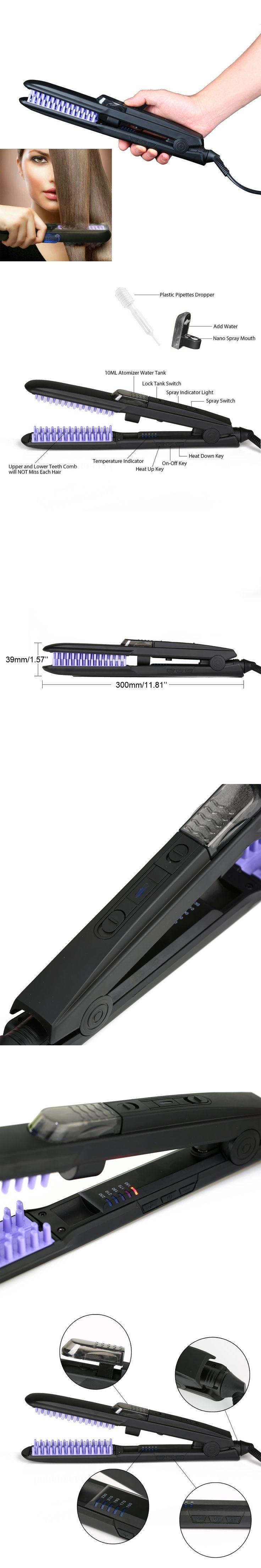 Faster Heating Straightening Brushes  Irons Women Steam Hair Straightener Brush Comb Hair Care For Home Dating Travel Salon HB8