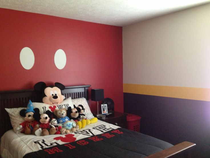 Best 20 mickey mouse bedroom ideas on pinterest mickey mouse room mickey mouse nursery and - Simple kids room painting ideas ...
