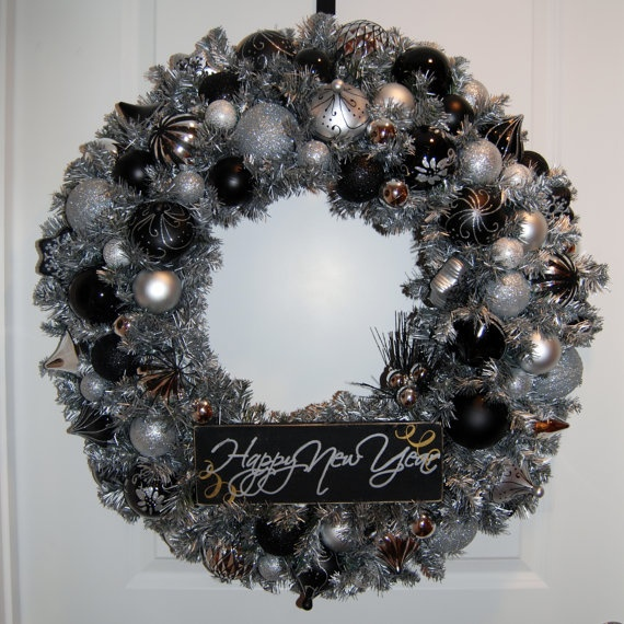 Happy New Year Wreath: Happy New Year