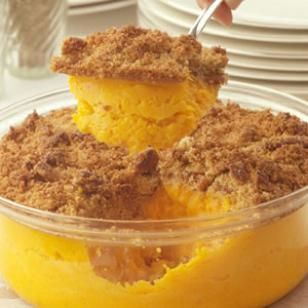 Sweet Potato Casserole.  Good even if there's no marshmallows   http://www.eatingwell.com/recipes/sweet_potato_casserole.html