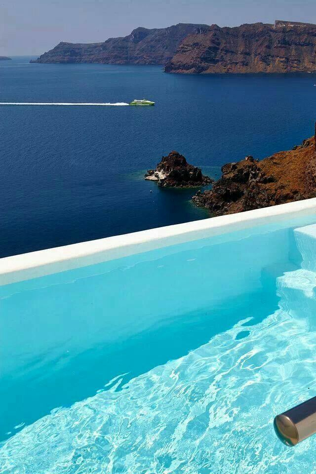 296 best images about santorini greece on pinterest villas santorini resorts and santorini - Santorini infinity pool ...