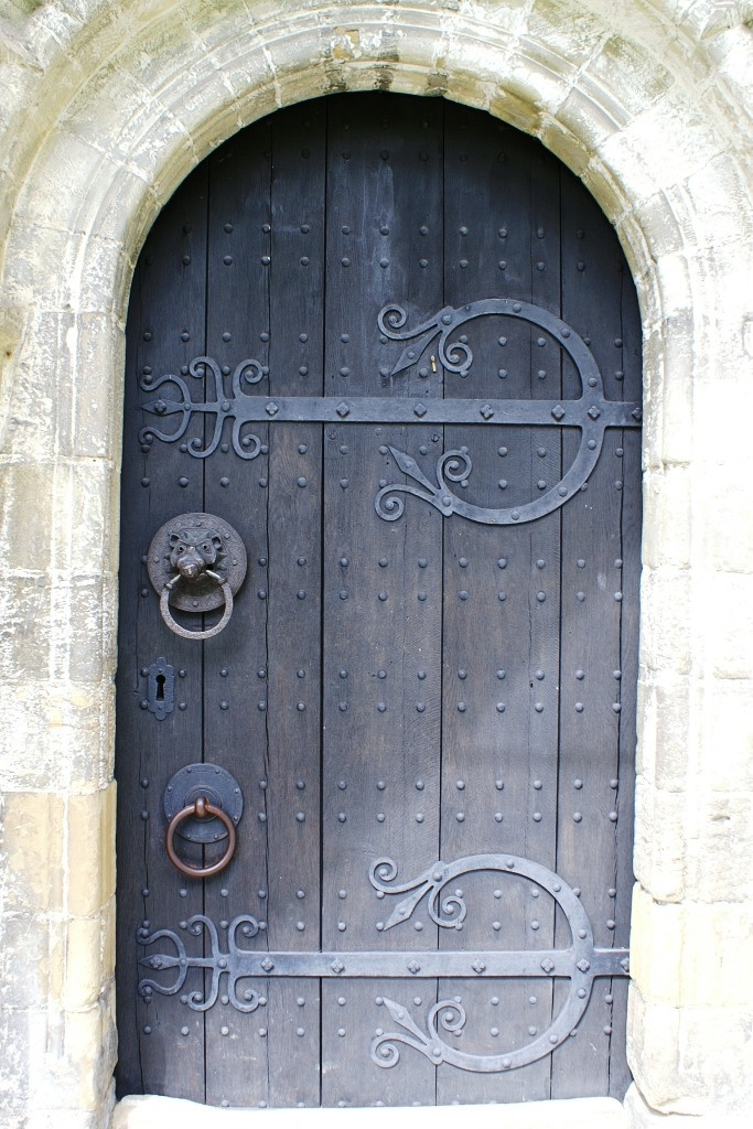 Lovely old wooden door with iron work at Adel Church Leeds England. // For our homeschool Reformation Day project! | Homeschool | Pinterest | Leeds ... & Lovely old wooden door with iron work at Adel Church Leeds ...