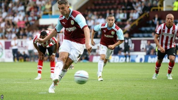 Burnley striker Jay Rodriguez scores from the penalty spot against Southampton
