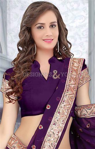 new saree blouse designs with latest patterns of jardoshi thread work