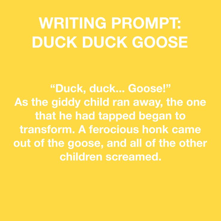 Duck and goose book writing activities