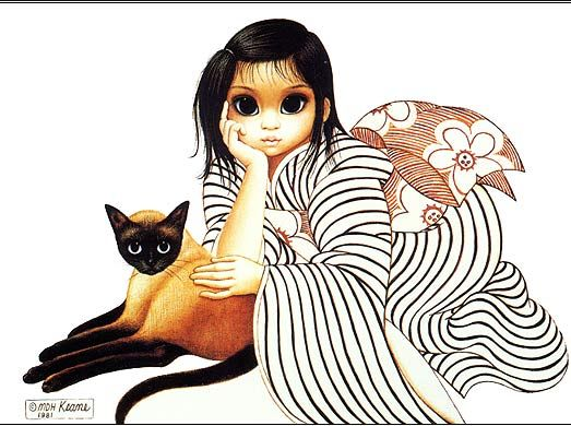 Ladies in Waiting by Margaret Keane. Her story is interesting look her up on wikipedia!