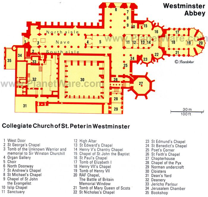 Westminster Abbey Floor Plan Map Arch History