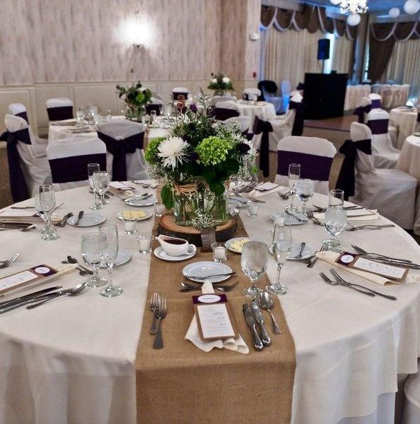table settings with burlap runners set of 10 natural beige burlap hemp vintage wedding party