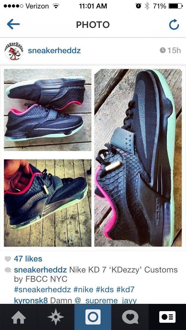 97e78dca Nike KD 7 KDezzy Customs by FBCC NY   SneakerHeddz on Instagram   Kd ...