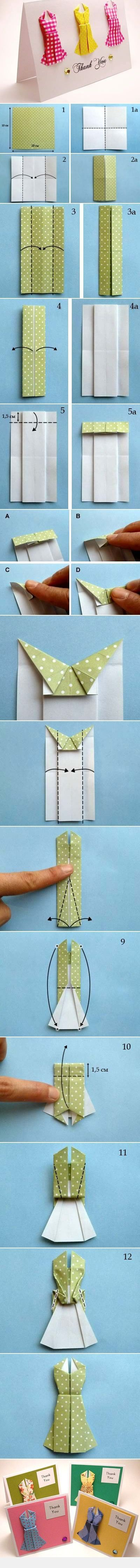 DIY Gift Card with origami elements