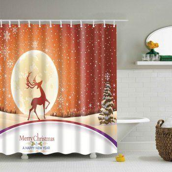 merry christmas waterproof fabric bath curtain cheap bathroom accessoriescheap