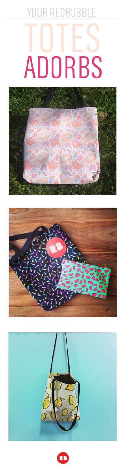 Do you take Redbubble on the go? Our tote bags and pouches are made for taking along, and they're totes adorbs. Browse beautiful artist-designed patterns like quirky donuts and sweet lemons—find the perfect carrying companion for your summer adventures.