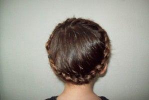 Coiffure 6 : La couronne ! - Mes coiffures fantaisies