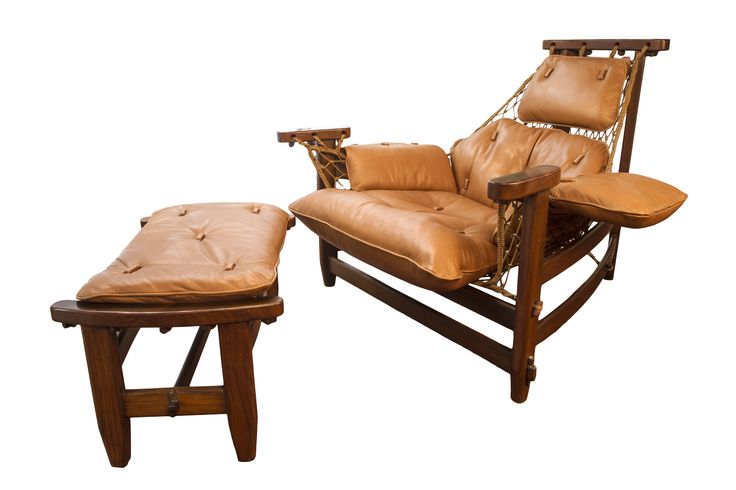 Captain chair and Ottoman by Jean Gillon. 1960s