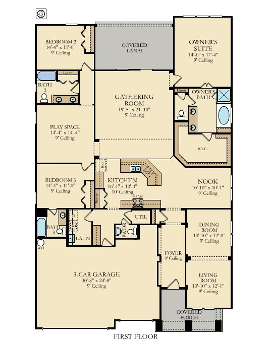 The Julien floorplan from @lennarjax offers 4 bedrooms and 3.5 bathrooms all on one story! #home #floor #plan