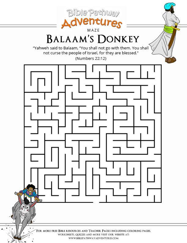 Balaam39s Donkey Talks Numbers 22 Coloring Bible OT Exodus