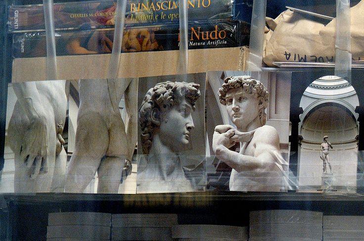 https://flic.kr/p/6SUhix | DSC_3841david | David as seen through the window of the Academia's storeroom.