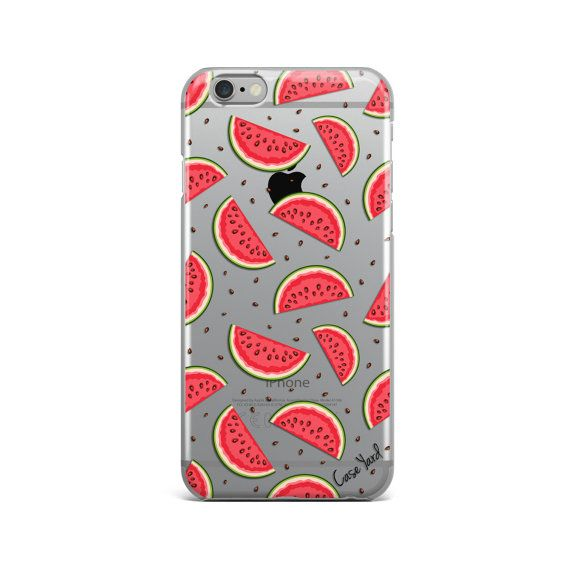 Watermelon clear iphone 6s caseclear iphone 6s by CaseYard on Etsy