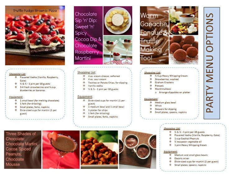 Which would you want served at your Dove Chocolate Discoveries tasting party?