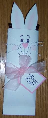 Easter bunny chocolate bar wrapper! by Duckie - Cards and Paper Crafts at Splitcoaststampers